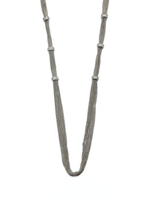 ABS BY ALLEN SCHWARTZ Pavé Rondelle Link Chain Necklace