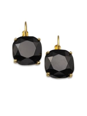 Faceted Square Drop Earrings