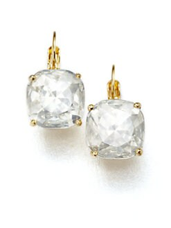 Kate Spade New York - Faceted Square Drop Earrings/Clear