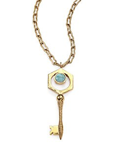 Kelly Wearstler - Larimar Covet Key Pendant Necklace