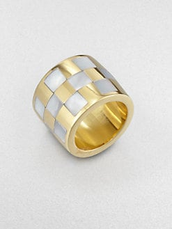 Kelly Wearstler - Mother-Of-Pearl Inlay Barrel Ring