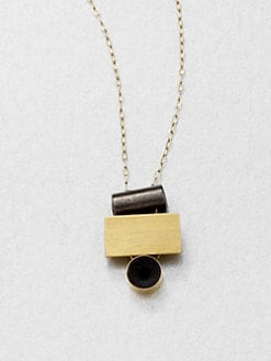 Etten Eller - Stacked Bead Pendant Necklace