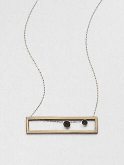 Etten Eller - Rectangle & Circle Bead Pendant Necklace