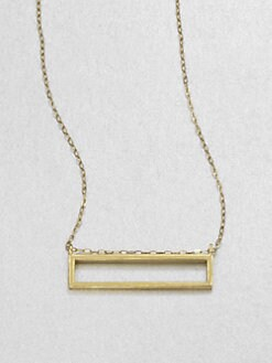 Etten Eller - Tiny Rectangle Pendant Necklace