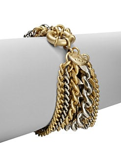 Giles & Brother - Two-Tone Multi-Row Chain Link Bracelet