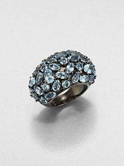 M.C.L by Matthew Campbell Laurenza - Blue Topaz & Sterling Silver Pebble Ring