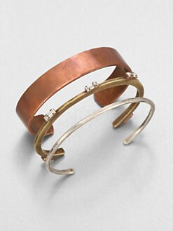 Bing Bang - Trinity Baguette Bangle Bracelet Set
