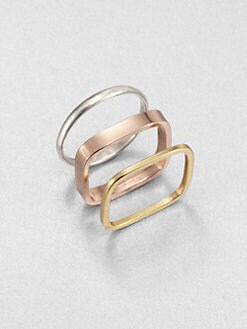 Bing Bang - Tri-Tone Ring Set