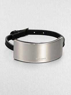 Saint Laurent - Leather ID Bracelet
