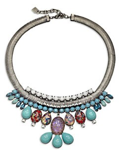 DANNIJO - Tullia Multicolor Mini Bib Necklace