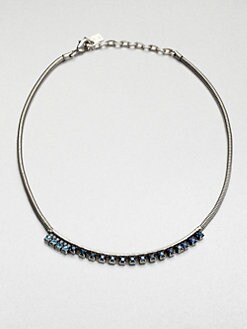 DANNIJO - Sapphire-Blue Sparkle Snake Necklace