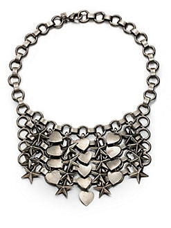DANNIJO - Marinella Stars & Hearts Chainmail Bib Necklace
