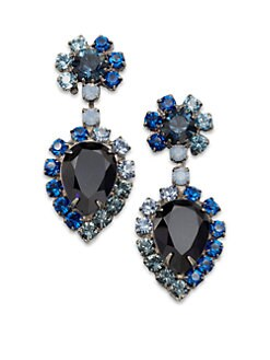 DANNIJO - Cruz Faceted Drop Earrings/Blue