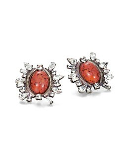 DANNIJO - Minka Mottled Button Earrings