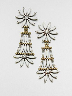 DANNIJO - Faceted Linear Chandelier Earrings