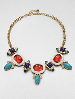 Kenneth Jay Lane - Swarovski Crystal Deco Bib Necklace