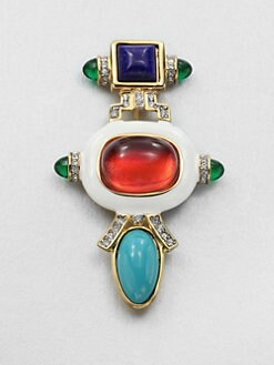 Kenneth Jay Lane - Swarovski Crystal Deco Brooch