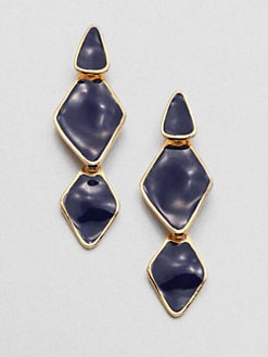 Kenneth Jay Lane - Enamel Diamond-Shaped Drop Earrings