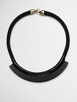 Orly Genger - Fiona Enamel & Rope Mini Bib Necklace
