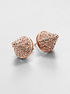 Eddie Borgo - Cone-Shaped Pave Earrings/Rose Gold