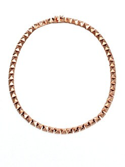 Eddie Borgo - Pyramid Link Necklace/Rose Gold