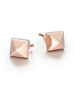 Eddie Borgo - Pyramid Stud Earrings/Rose Gold