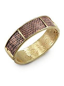 Kara by Kara Ross - Lizard Section Cuff Bracelet