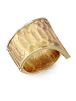 Kara by Kara Ross - Metallic Python Tail Cuff Bracelet