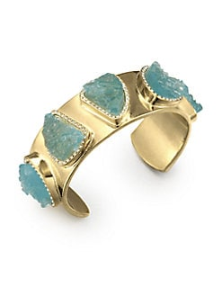 Kara by Kara Ross - Textured Stone Cuff Bracelet