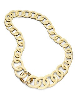 Kara by Kara Ross - Twisted Ivory-Print Chain Link Necklace