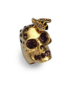 Alexander McQueen - Skull & Bee Ring