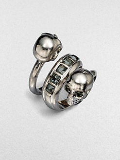 Alexander McQueen - Wrapped Twin Skull Ring