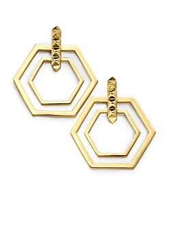 Eddie Borgo - Double Hexagon Earrings