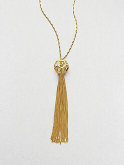 Eddie Borgo - Caged Nova Tassel Pendent Necklace