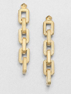 Eddie Borgo - Supra Texture Link Drop Earrings