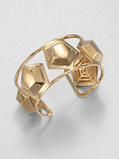 Eddie Borgo - Medium Hexagon Stud Cuff Bracelet