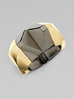 Vionnet - Geometric Two-Tone Bangle Bracelet