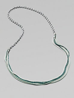 FLorian - Beaded Wire Mesh Necklace