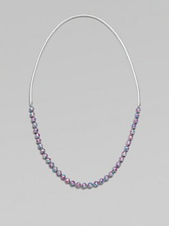 FLorian - Long Painted Bead Leather Necklace
