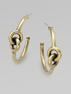 Giles & Brother - Antique-Finished Archer Hoop Earrings