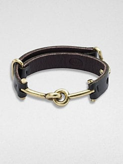 Giles & Brother - Leather Archer Cuff Bracelet