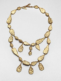 Oscar de la Renta - Two-Tier Textured Bib Necklace
