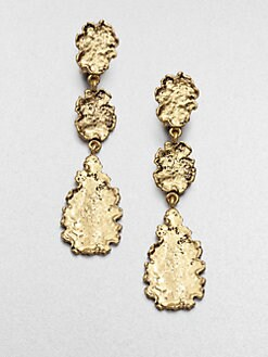 Oscar de la Renta - Textured Drop Earrings