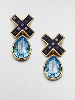 Oscar de la Renta - Two-Tone Drop Earrings