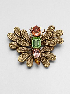 Oscar de la Renta - Cast Lace Butterfly Pin