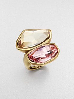Oscar de la Renta - Two-Tone Abstract Ring