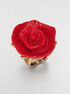 Oscar de la Renta - Molded Rose Ring