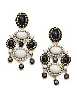 Oscar de la Renta - Two-Tone Chandelier Clip-On Earrings