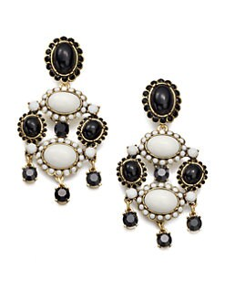 Oscar de la Renta - Two-Tone Chandelier Earrings
