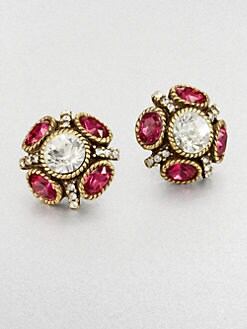 Oscar de la Renta - Rope-Set Sparkle Earrings